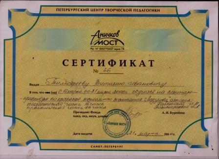 сертификат программы