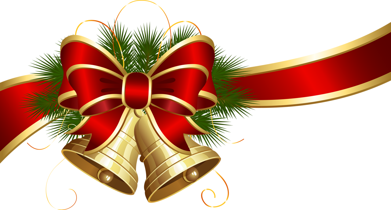 Transparent_Christmas_Bells_with_Red_Bow_Clipart